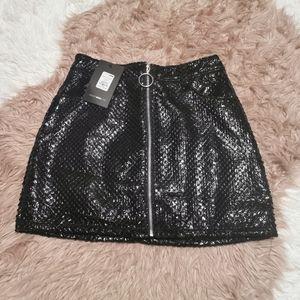 Fashion Nova Zip Front Skirt XS